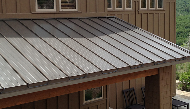An example of our SnoFree™ Heated Roof Panels installed on a metal roof.