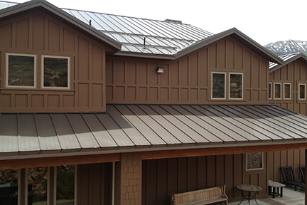 An example of the SnoFree™ Heated Rib system installed on a standing seam metal roof.